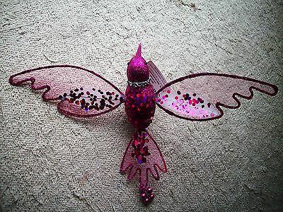 Clip On -  Ornament - Beautiful Fushia Clip On Hummingbird