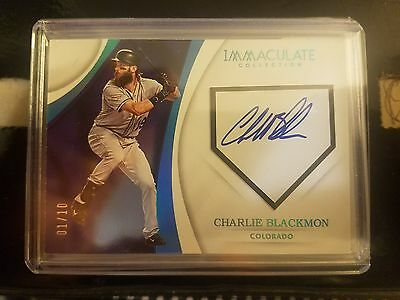 REDUCED lmt time only! 2017 Immaculate Charlie Blackman home plate Autographed.