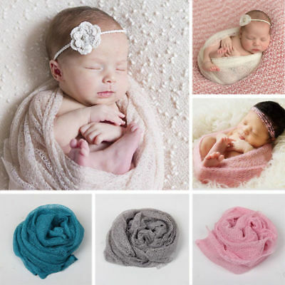 Fashion Newborn Baby Knitted Wraps Blanket Swaddle Cover Crib Photography Prop
