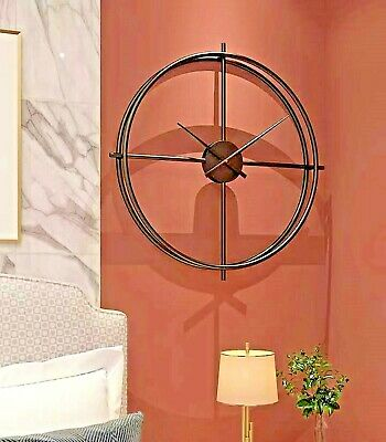Handmade Large Wall Clock 100 cm Metal Industrial Vintage French Provincial