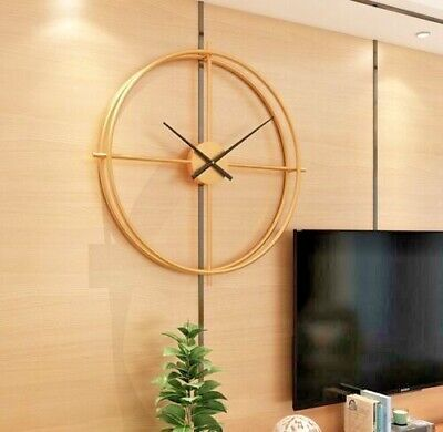 Handmade Large Wall Clock 91 cm Metal Industrial Vintage French Provincial