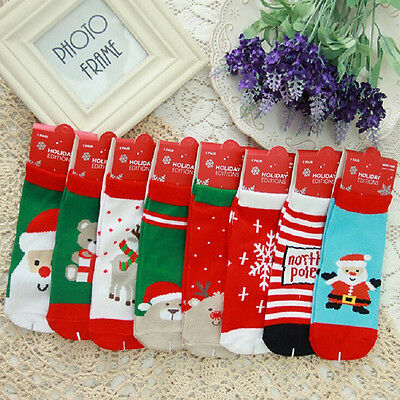 Newborn Toddler Baby Kids Christmas Socks Stocking  Boys Girs Xmas Gift Cartoon