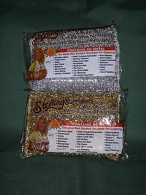 Sterling's GOLD & SILVER Non Scratch Anti-Bacterial Scrubber - ORDER 10 get 11!