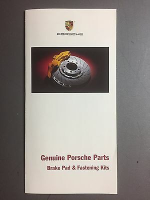 2003 Porsche Genuine Parts - Brake Pads Folder RARE!! Awesome L@@K