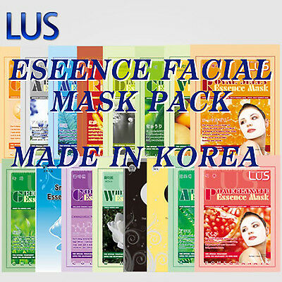 [LUS]Essence Face Mask Pack 15Type Facial Skin Care Korea Cosmetic Free shipping