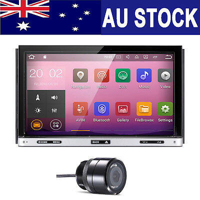 Double 2Din Android 7.1 Car Stereo GPS DVD Player DAB+ OBD2 HeadUnit Free Camera