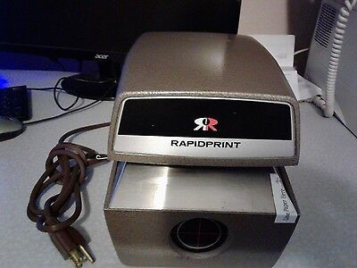 Rapidprint C724-E  time and date stamp, time clock