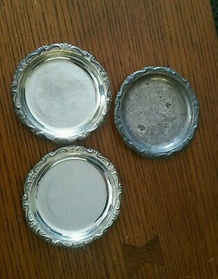 3 SILVER PLATED EP ON STEEL MADE IN ITALY Coasters