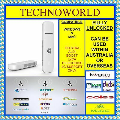 Unlocked Huawei E3372 4G Usb Modem+Use Vodafone/lebara/hello Mobile/iinet/moose