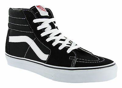 Vans Classic SK8 Hi Tops Black White Mens All Sizes Skateboard Shoes