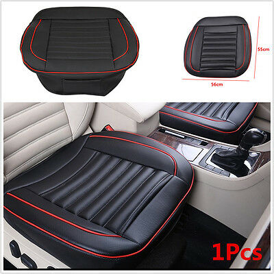 55x56cm Universal Buckwheat Shell Inside PU Leather Car Seat Cover Protector Mat