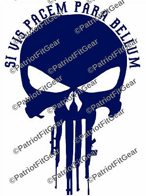 Si Vis Pacem Para Bellum,Punisher Skull,Molon Labe,2A,Stickers,Vinyl decal