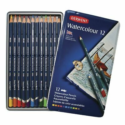 Derwent R32881 Watercolour Pencils 12 Tin