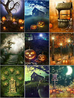 """Halloween Photograph/Backdrop/Background  for 18"""" doll or similar doll"""