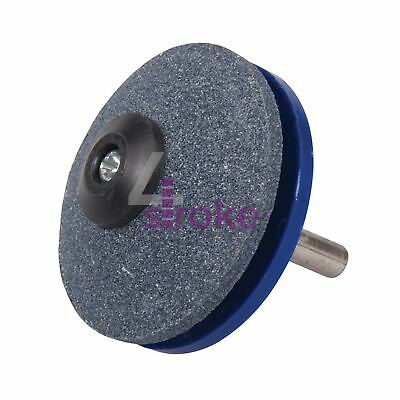 Rotary Mower & Tool Sharpener 50mm 2 Angled Faces And Guide Disc Quality