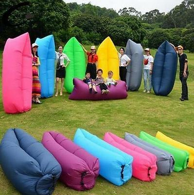 Cute Sofa Bed Lazy Waterproof Lounger Chair Fast Inflatable Camping Air Sleeping