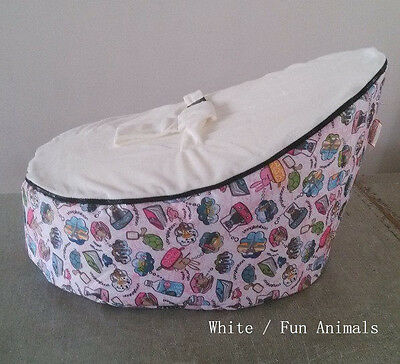 small Owl canvas Baby infant Bean Bag Snuggle seat bed 2 upper layer No Filling