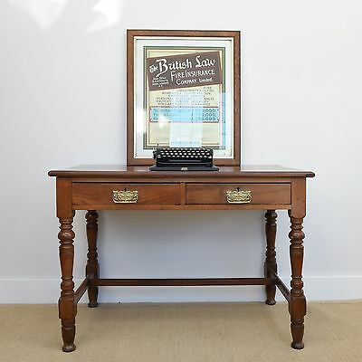 Antique Writing Table, C19th Mahogany Hall Side Table, Victorian Desk