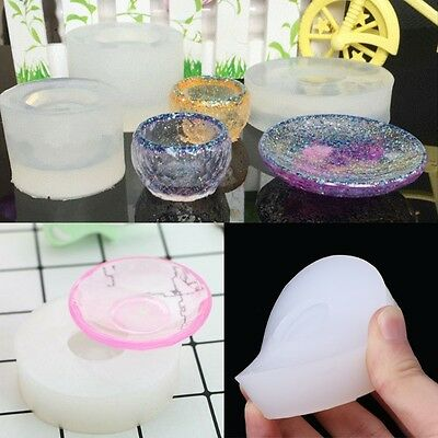 Dish Silicone Pendant Mold Hand Making Jewelry Resin Necklace Mould Craft Tool