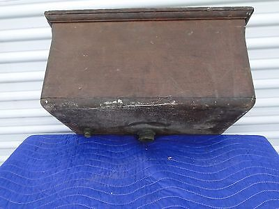 Antique Oak Hanging Water Tank for Toilet Copper Lined