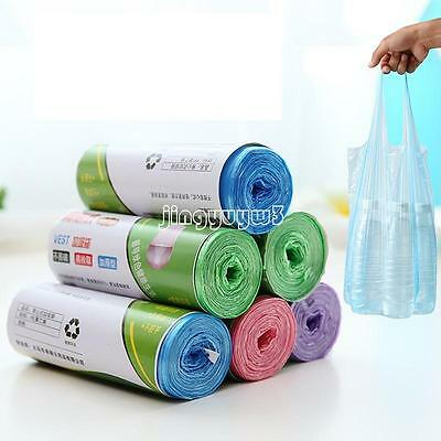 100Pcs/Roll Garbage Kitchen Toilet Waste Trash Clean Up Rubbish Bag Solid Colors