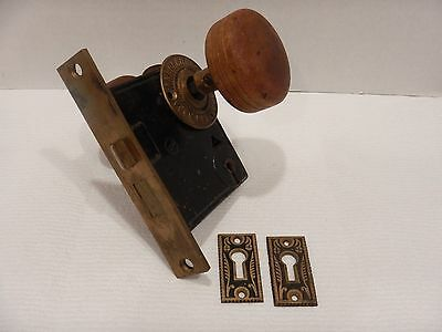 Vintage Victorian Yale & Townsend Y&T Antique Mortise Lock Door Hardware