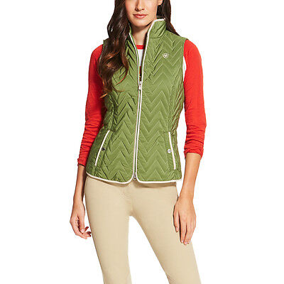 Ariat Ashley Quilted Riding Vest - Ladies - Olive Marine - Different Sizes