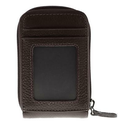 Mens Womens Genuine Leather Wallet Porta carte di credito Holder Borsa