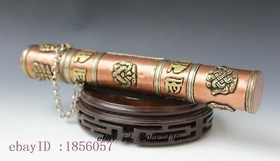 Collectible Chinese Handwork Tibet old copper  envelope Box N1