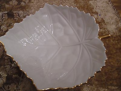 Lenox China Aspen Leaf Collection- Leaf Candy Dish- Exquisite! Perfect Condition