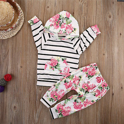Toddler Kids Baby Girl Hoodie Tops + Pants Leggings 2Pcs Outfits Set Clothes