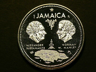 Jamaica 1972, Sterling Silver Proof 10 Dollars,  1.4631 oz  #G5979