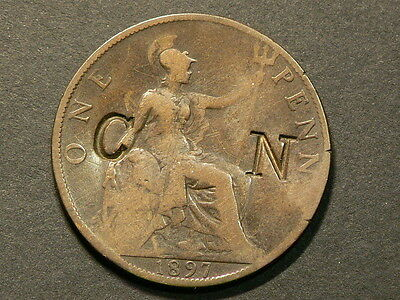 1897 Penny  Counterstamp CN #G6462