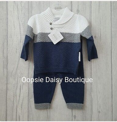 Baby Boys Gorgeous Knitted Jumper 2 Piece Suit ☆