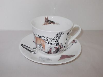 Roy Kirkham Dogs Galore Breakfast Cup And Saucer 2005