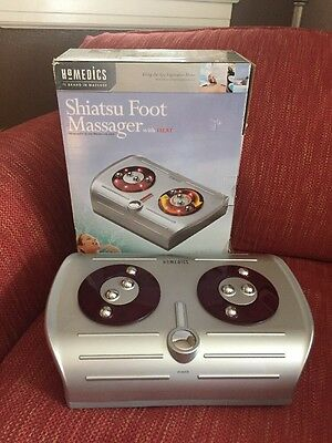 NEW in Open Box HOMEDICS SHIATSU Foot Massager FM-CR-2 With Heat Kneading Action
