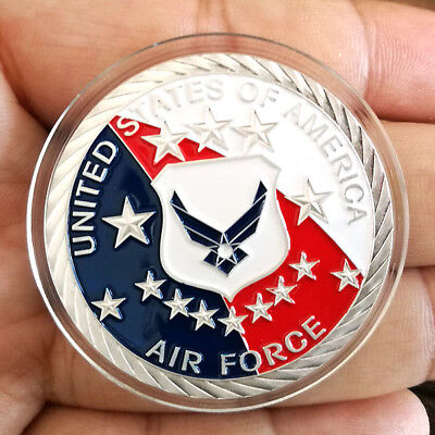 1 oz .999 Fine Silver Round Bar Bullion Coin  USAF / U.S  Air Force  SB1J8