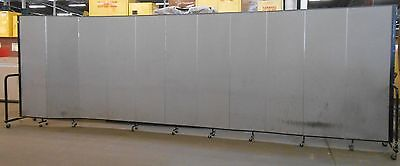 "Screenflex Portable Freestanding Partition, 6 Ft Height, 11 Panels, 20'5"" Length"