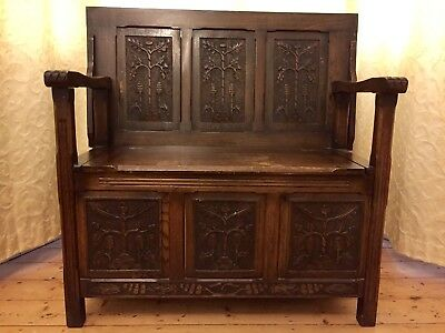 Monks Bench - A lovely piece, must go - reduced to clear
