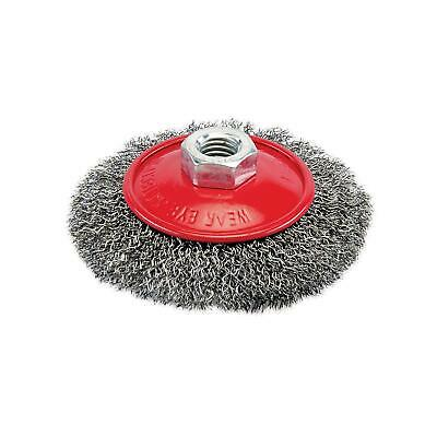 100mm Rotary Steel Wire Brush Crimp Bevel Wheel Cup Angle Grinder M14 New