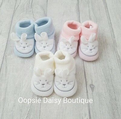 Baby Boys Girls Cute Fleecy Bunny Slippers/Booties ☆