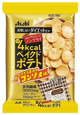 Asahi Reset Body Baked Potato Consomme Flavor 66g Non-Fried Diet Snack JAPAN F/S