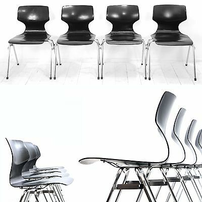 4 chairs 60s Pagwood Bauhaus industrial design Vintage Mid Century