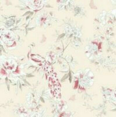 Dorma PARADISE Birds Peacock Blush Pink Luxury Wallpaper French Style Vintage