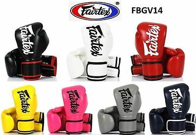 Fairtex Boxing Gloves Lightweight Microfibre BGV14 BEWARE OF FAKES