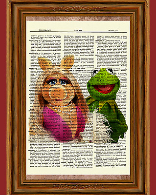 Kermit the Frog & Miss Piggy The Muppets Dictionary Art Print Picture Poster