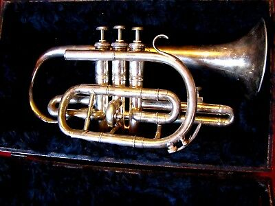 Rare -1911 Rough Lea Colliery Silver Band - Class A Prototype - Besson Coronet