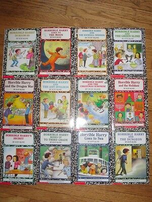 12 Horrible Harry Book Lot by Suzy Kline Set AR 2nd Grade 2