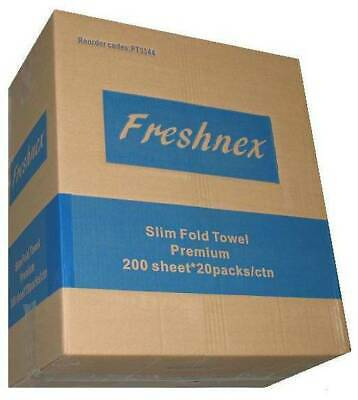 PT3344 Box of 20 Packs (200 Sheets per pack) Slim Folded Premium Paper Towels