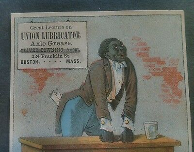 1880's Union Lubricator Axle Grease Black Americana Trade Card Pridee Shields